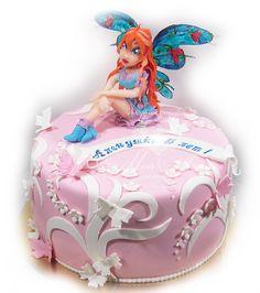 Cake WinX, Fairy Bloom. Торт Винкс, фея Блум.