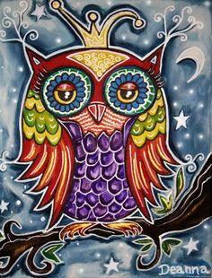 A beautiful owl print by my talented friend, Deanna!  I can't wait to have it framed.  See more of her gorgeous art at http://www.artsydeanna.com/
