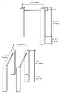 plans and material list for a diy pull up bar