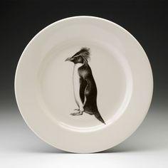 Laura Zindel Design - Dinner Plate: Rockhopper Penguin, $50.00 (http://www.laurazindel.com/dinner-plate-rockhopper-penguin/)