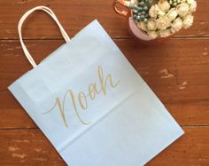 Groomsman or Bridesmaid Gift Bag, Groomsmen, Personalized Gift Bag ...