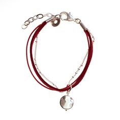 Bracelet NUAGE rouge en cordon - Chorange