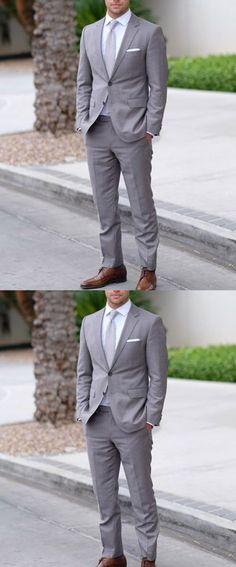 Steel Gray Wedding Tuxedo Two Pieces Jacket Pants Men Suits 2019 - Tuxedo - Ideas of Tuxedo - tuxedo for men gray Grey Tuxedo, Tuxedo For Men, Tuxedo Man, Men's Tuxedo Wedding, Grey Wedding Suits For Men, Wedding Tuxedos, Man Suit Wedding, Formal Wedding, Wedding Attire