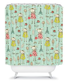 Take a look at this Bonjour Lapin Shower Curtain by DENY Designs on #zulily today!