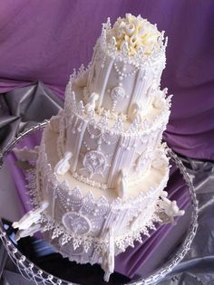 ROYAL ICE WEDDING CAKE(CAKE AWAY COMPETITION) by Red Carpet Cake Design ® by Red Carpet Cake Design®, via Flickr