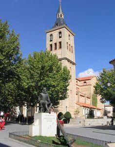 Monumento a cervantes en el Campo de Criptana, provincia de Ciudad Real.  Ciudad Real, España.