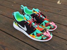 HAND PAINTED Custom Nike Roshe Run Black by SydneyKayCustoms