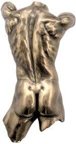 Male Nude Rear Torso Wall Plaque