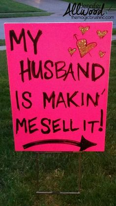 The FANCIEST-SCHMANCIEST Garage Sale Signs