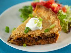 Heavenly Taco Pie Taco Pie Recipes, Mexican Food Recipes, New Recipes, Cooking Recipes, Favorite Recipes, Spanish Recipes, Potluck Recipes, Family Recipes, Gourmet