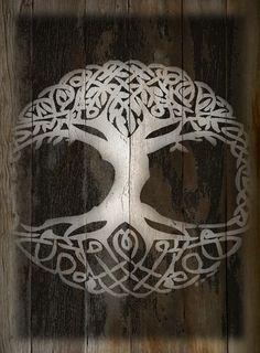 Yggdrasil-Norse Tree of Life, woodburn