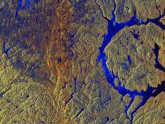 Cráter Manicouagan de Canadá