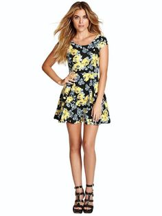 GUESS Iconic Rose Fit-and-Flare Dress Jet/Multi $75 AUTHENTIC- SHIPS FREE ♥ BUY HERE: http://www.beachhippieinc.net/guess-iconic-rose-fit-and-flare-dress-jet-multi/ ♥ INCLUDES NORTON SHOPPING PROTECTION & LOWEST PRICE GUARANTEE!