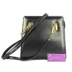 46b7124e6f49 BALLY Vintage Shoulder Bag Black Colour Box Leather Good Condition  Ref COTT-9