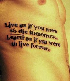 Inspirational Tattoo Quotes for Men