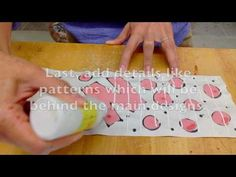 This video shows how to make an underglaze design on newsprint that will work like a press on tattoo for ceramic design.