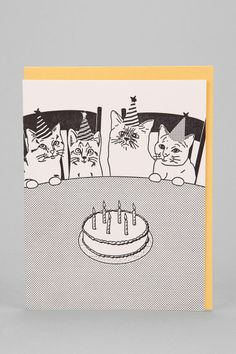 McBitterson's Cat Party Birthday Card