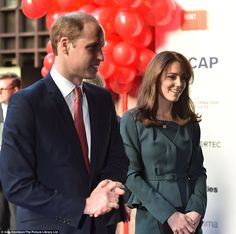 Kate, wearing a favourite suit by L.K. Bennett, and her husband, Prince William, were at t...