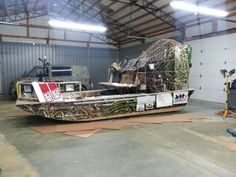 call us to get a quote on wrapping your boat! #boatwrap #bowfishing
