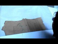 MODELAGEM - Variação do molde de camisete para chemisier - YouTube