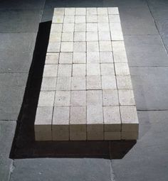 Carl Andre, Equivalent VIII, 1966. Collection of the Tate, London.