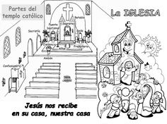 Fuente: elrincondelasmelli          La  iglesia o templo católico:      La  iglesia es un lugar que está construido especialmente para ...