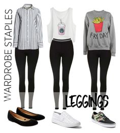 """""""3 &1 looks"""" by truquesdemeninas on Polyvore featuring moda, Topshop, Canvas by Lands' End, Adolescent Clothing, Vans, Steve Madden, Accessorize, Leggings e WardrobeStaples"""