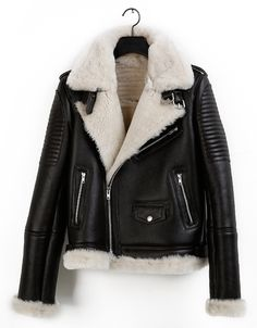 Leather and shearling