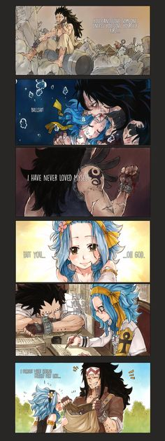 Oh my gosh! I love this sooo much!!! It pulls my heartstrings so hard. Oh Gajeel, I'm so glad you have Levy now. ^__^ ~Fairy Tail #GaLe