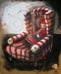 szegedi katalin - Cerca con Google Armchair, Comfy, Google, Illustrations, Furniture, Reading, Sweet, Home Decor, Art