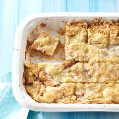 Apple Kuchen Bars Recipe from Taste of Home -- shared by Elizabeth Monfort of Celina, Ohio