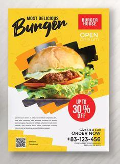 Food Flyer Vol 2 by khurasan on Envato Elements Food Graphic Design, Food Menu Design, Food Poster Design, Flyer Design, Sport Flyer, Brochure Food, Promo Flyer, Food Promotion, Restaurant Flyer