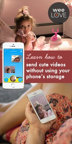 Hollerback stores your videos in the cloud, so they don't take up any space on your smartphone. It's also simple enough for a toddler to use (seriously, we've seen it happen), so all the grandmas and grandpas out there will be able to figure it out too. Read more about weeLove | weespring.com Snacks For Work, Healthy Work Snacks, Baby Tech, Image Fun, Homemade Yogurt, Grandma And Grandpa, Pottery Mugs, Pregnancy Tips, Cheeseburger Eddie