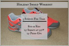 Holiday Shred Workout. #FitFluential #HIIT #CrossFit