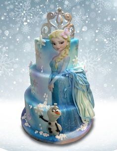 Elsa Frozen Cake - cake by MsTreatz - CakesDecor Frozen Themed Birthday Party, Disney Frozen Birthday, Elsa Birthday Cake, Happy Birthday, Birthday Parties, Bolo Elsa, Elsa Torte, Pastel Frozen, Elsa Cakes