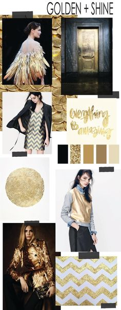 FASHION VIGNETTE: TRENDSPIRATION // GOLDEN + SHINE