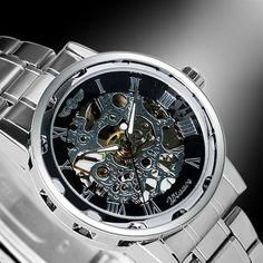 Winner Stainless Steel Skeleton Watch 3 Styles