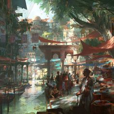 Art by Theo Prins - Paintings - Fantastisches Lichtspiel