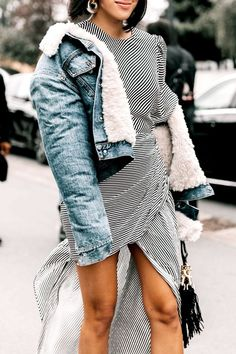 Spring jean jacket outfit ideas