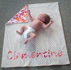 minky/flannel baby blanket tutorial