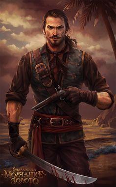 The Silence is Gold (Captain Golden Heart) by sharandula.deviantart.com on @deviantART