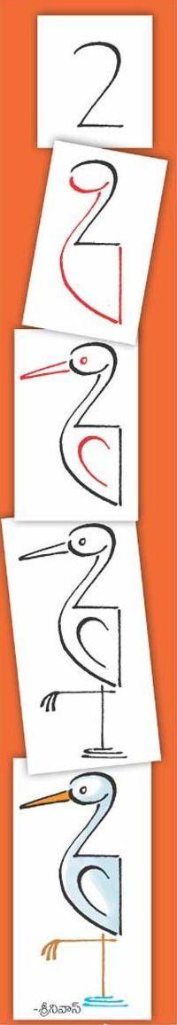 Drawing a crane