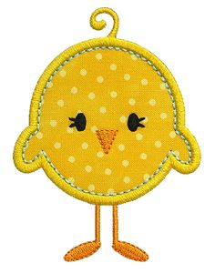 sweet embroidery free designs   GG Designs Embroidery - Baby Chick Applique (Powered by CubeCart)