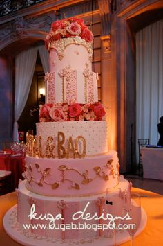 gold cake | Kuga+Designs+The+buttercream+Studios+pink+and+Gold+Cake.jpg