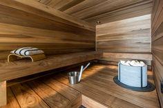 Saunaremontti järvinäkymien ehdoilla Truck Interior, Interior Design, Sauna Design, Spa Rooms, Saunas, Basin, Home And Living, Deco, Interiors