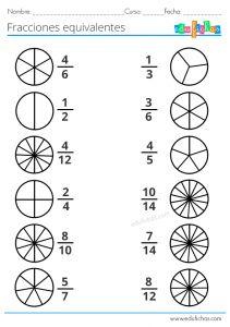 Equivalent Fractions Worksheet 3rd Grade in 2020