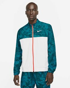 Nike Acg, Tennis Clothes, Camo Print, Green Jacket, White Style, Zip, Sleeves, Jackets, Outfits