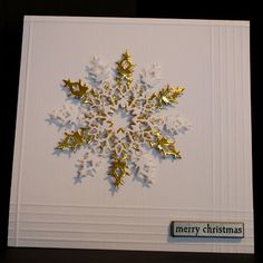 Eileen's Crafty Zone: Memory Box Snowflake Die for Rudolph Day!
