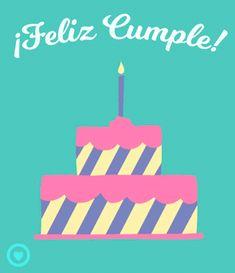 bonito gif de cumpleaños pastel
