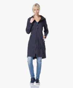 831796afa9ec Ilse Jacobsen Softshell Raincoat - Indigo